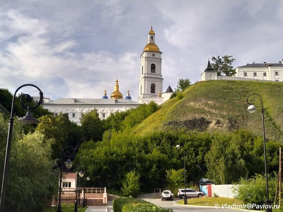 Vid ni Tobolskij kreml iz nizhnego goroda Podgory - Нижний город Тобольска. Подгора
