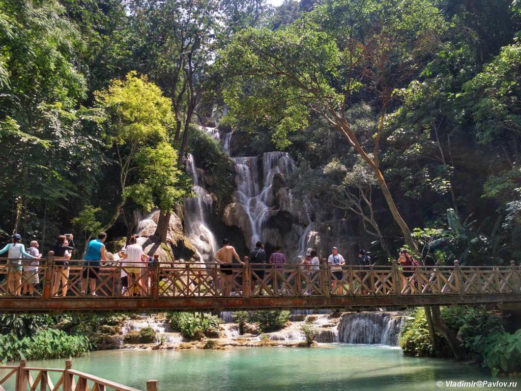 Vodopad Kuang Si v Laose Luanphabang. Kuang Si Waterfall 1024x768 - Окрестности Луанг Прабанг. Пещера Пхалуеси (Phaluesi Cave). Водопад Пху Си (Phu Si Waterfall)