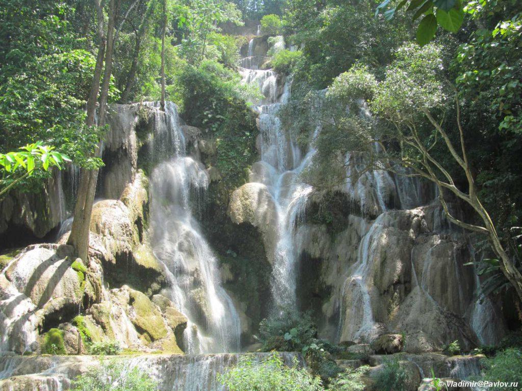 Vodopad Phu Si Phu Si waterfall. Laos. Dostoprimechatelnosti Luang Prabang. Laos Luang Prabang 1024x768 - Окрестности Луанг Прабанг. Пещера Пхалуеси (Phaluesi Cave). Водопад Пху Си (Phu Si Waterfall)