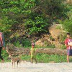 Vstrechayushhie. Bereg Mekonga. Laos 150x150 - Судоходство по Меконгу. Лаос