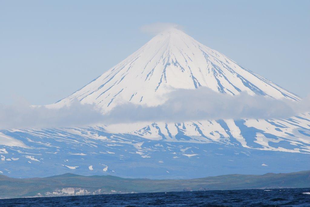 Vulkan Pavlova na Alyaske - Вулкан Павлова (Pavlof Volcano), острова и залив Павлова