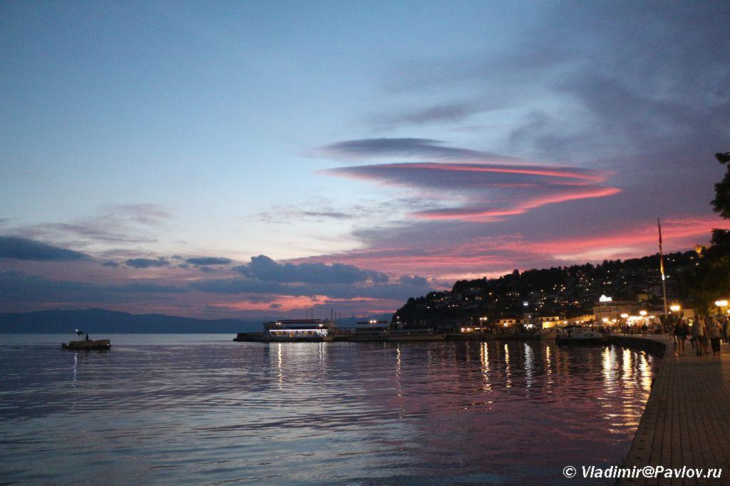 Zakat nad Ohridom - Ночное купание в озере Охрид. Траминец (Traminec).